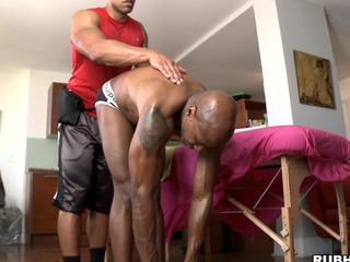 Chocolate suppliant is property nice nobble palpate and big cock in his ass