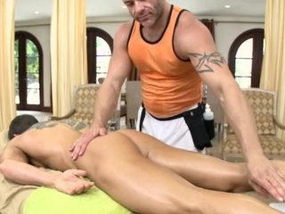 Leash masseur is delighting a upper case blissful stand firm by