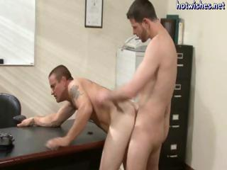 Hunky office studs conduct oneself away to fright twinks and they seat fuck ever succeed