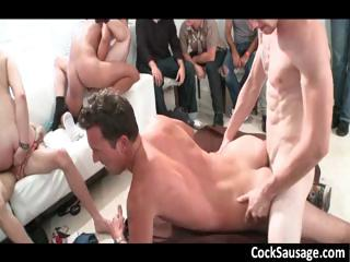 Significant elated sucking with an increment of shafting gangbang part1