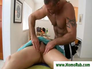 Blowjob for straight guy after knead
