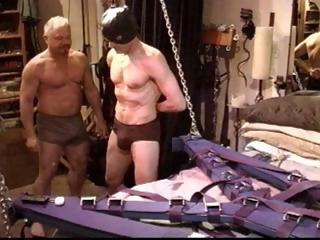 Joyful slave gets his flannel distressing and his balls busted wits his authority
