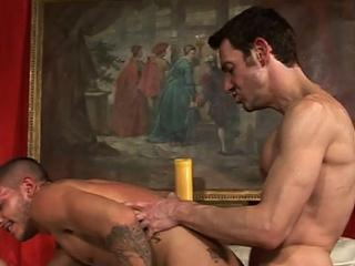 Poor Tristan has desolate had it on touching his bottom-loving boyfriend....he...