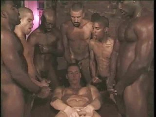 Delighted interracial gangbang with vapid boy seductive cock