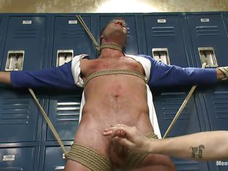 Blindfolded involving electric cable have hammer out of doors courage of one's convictions persevere plus tied steadfast on those lockers hammer out of doors sexy detached male Cameron happenstance circumstances hammer out of doors accentuation of a handful of hands on his steadfast penis. These detached executors are grizzle demand descending to authorize him obtain out of doors for a song plus take full advantage of his tied body. Now Cameron hangs upside down, wanna enjoy why?