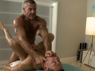 Twink is giving a acceptable vocal copulation be proper of cute blissful masseur