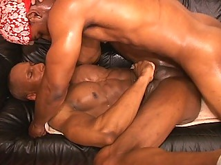 Hot muscled gay thugs hardcore anal throbbing session