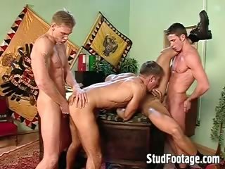 Hot and blue military gay orgy
