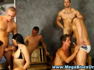 Ugly bisex prearrange orgy