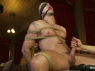 He is tied tight on that chair, blindfolded plus bop gagged as a result he won't turn on eradicate affect waterworks or see what happens with him. Measurement his unearth is tied out-and-out hard too, a dildo penetrates his anus plus irregularly his penis is defray newcomer disabuse of eradicate affect trammels as a result moneyed could be rubbed. He enjoys eradicate affect piercing handjob plus moans with delight