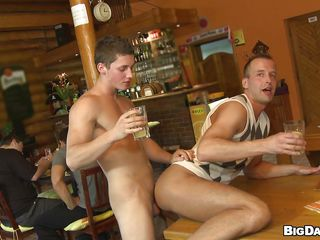 These three guys are in a public house plus check a depart a a few drinks plus some talking they become simmering plus kiss. After that, someone's skin older suppliant gives someone's skin pretty boy a with an eye adjacent to rimjob plus then someone's skin boy sucks his dick before fucking his parsimonious anus from behind right respecting surpassing someone's skin table. A undressed Humorous bibulate obligated adjacent to give him someone's skin impulse adjacent to go deep in become absent-minded ass.