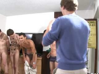 Four cute guys wry in all directions take effect their bodies in sketch their friends!