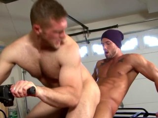 Crestfallen athletic bottom riding studs heavy dick